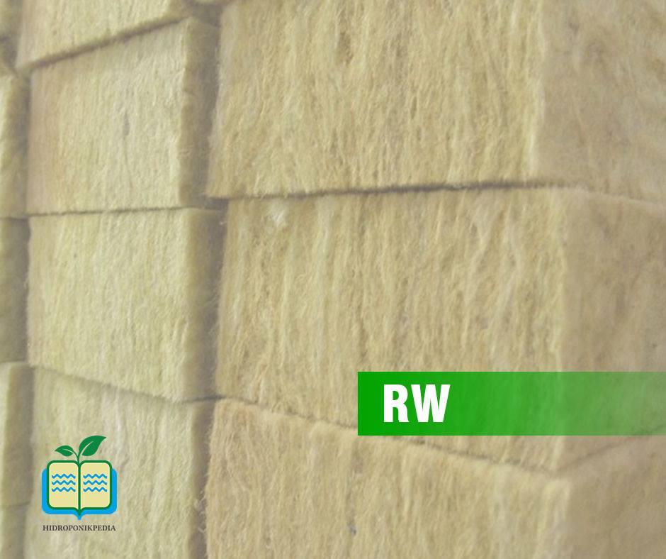 rw atau rockwool hidroponik
