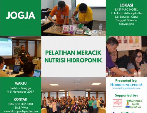 Pelatihan Meracik Nutrisi Hidroponik di JOGJA (4-5 November 2017)