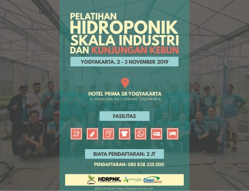 Pelatihan Hidroponik Skala Industri 2 – 3 November 2019 (YOGYAKARTA)