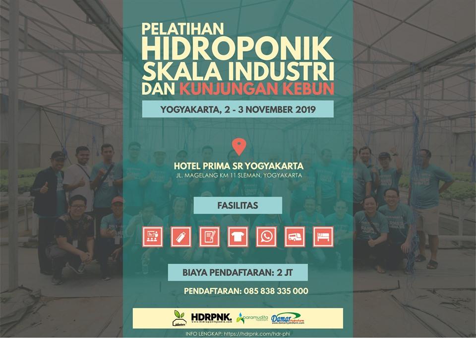 Pelatihan Hidroponik Skala Industri 2 3 November 2019