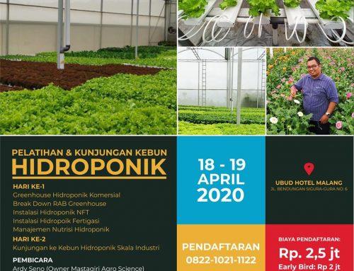 Pelatihan dan Kunjungan Kebun Hidroponik (18-19 April 2020)
